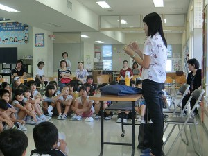 北中城小学校 福祉体験学習