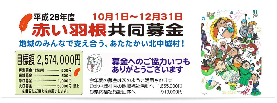 平成28年度赤い羽根共同募金へのご協力のお願い!